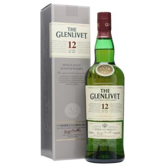 Harga Glenlivet 12 year old Scotch 700ml / 40%