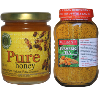 Harga Natural Pure Raw Honey Bundle With Natural Turmeric Tea