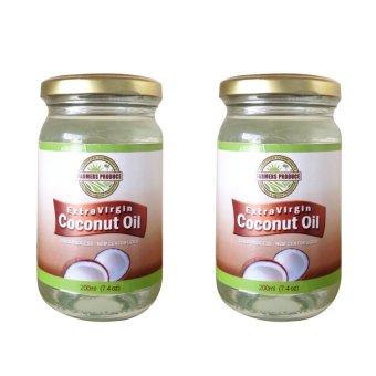 Harga Farmers Produce Virgin Coconut Oil 8oz (236ml) Export quality -Cold pressed Set of 2