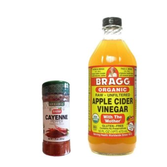 Bragg Organic Apple Cider Vinegar (Small) with Badia Organic Cayenne Pepper 1.75oz Price Philippines