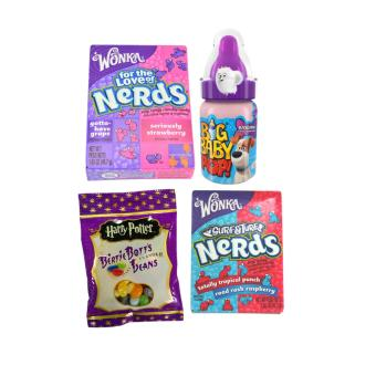 Harga Jelly Belly Bertie Botts Jelly Beans 54g + 2 Wonka Nerds + Big Baby Pop Candy