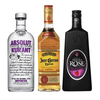 Harga Party Pack Liquor (Jose Cuervo, Tequila Rose and Absolut Kurant Vodka) - 750ml