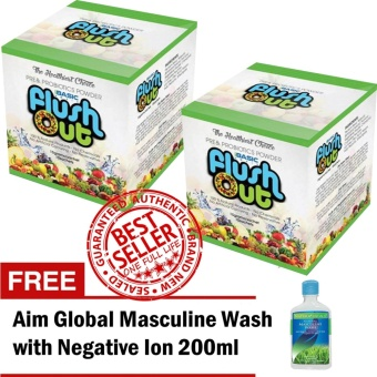 Harga Flush Out Colon Cleanse Prebiotics & Probiotics 2 Boxes (10 Sachets/Box) with FREE Aim Global Masculine Wash with Negative Ion