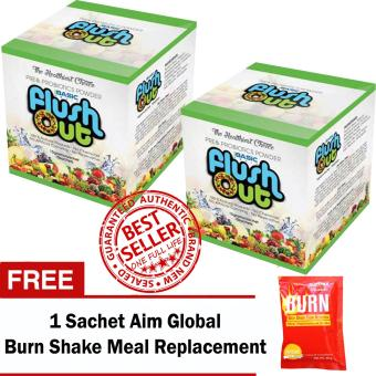 Harga Flush Out Colon Cleanse Prebiotics & Probiotics 2 Boxes (10 Sachets/Box) with FREE Aim Global Burn Shake Meal Replacement Shake