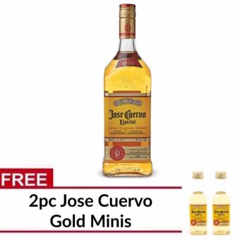 Harga Jose Cuervo Especial Reposado Gold Tequila 1L with FREE 2pc Cuervo Minis