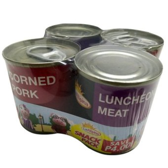 Harga La Filipina Corned Pork & Luncheon Meat Snack Pack