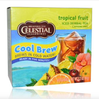 Harga Celestial Seasonings, Iced Herbal Tea, Caffeine Free, Tropical Fruit, 40 Tea Bags, 3.2 oz (91 g)