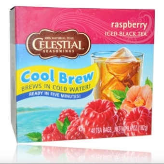 Harga Celestial Seasonings, Iced Black Tea, Raspberry, 40 Tea Bags, 3.6 oz (102 g)