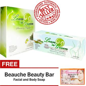 Lean n Green Slimming Capsule (30 Capsules) + Lean n Green SlimmingCoffee (7 Sachets) with FREE Beauche Beauty Bar Price Philippines