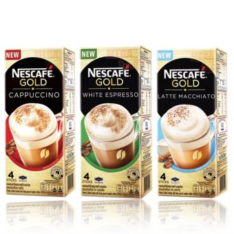 Nescafe Gold Set of 3 (Cappuccino, White Espresso and LatteMacchiato) 4 Sticks Each