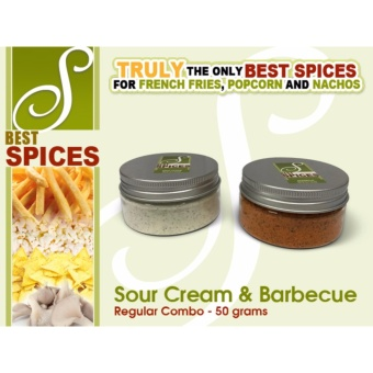 Regular Combo Sour Cream and Barbecue Best Spices Flavor powderFrench Fries popcorn nachos flavorings 50grams seasoning