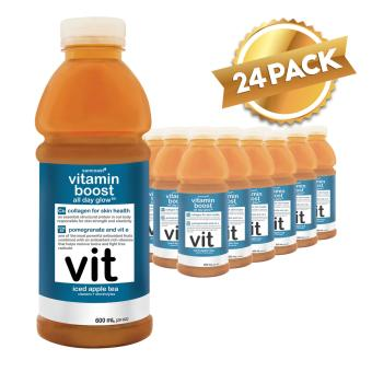 Vitamin Boost 600ml All Day Glow Iced Apple Tea Box of 24 Bottles