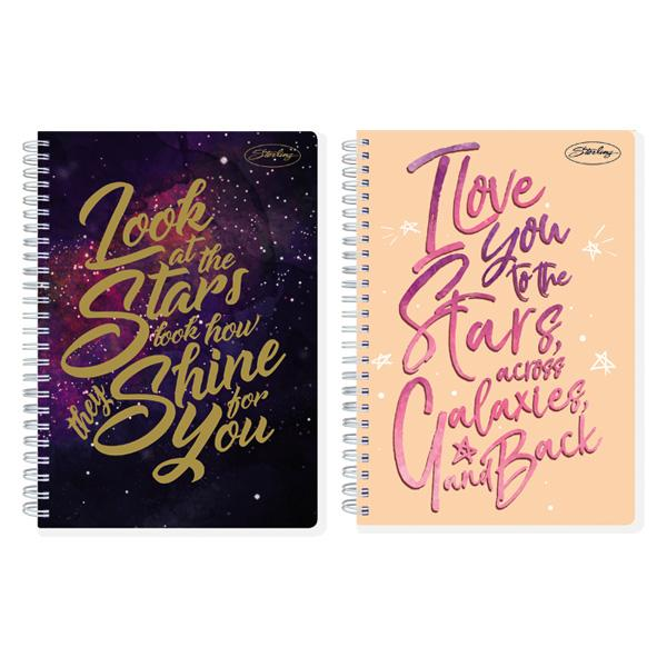 Image of Sterling Across the Universe Double Cover Wire Notebook Design 6