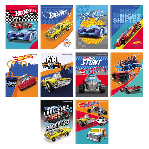 Image of Orions Hot Wheels Composition Notebook Set of 10