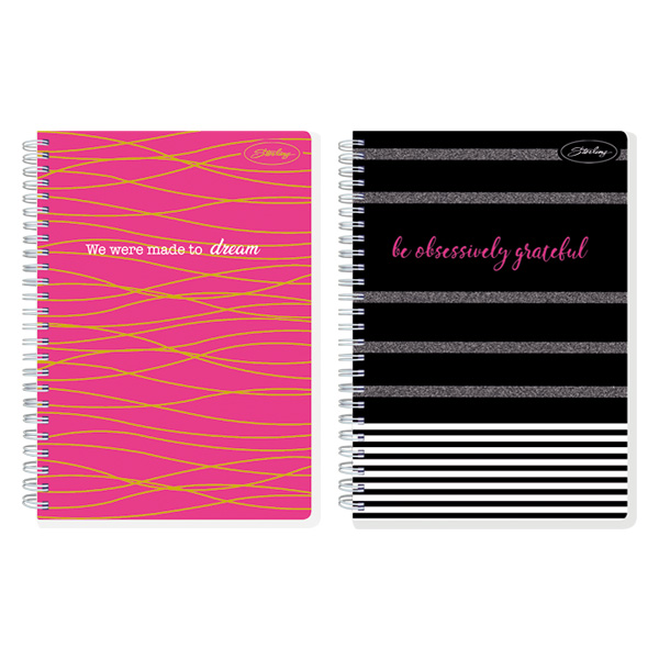 Image of Sterling Fabulous Me Double Cover Wire-O Notebook Design 2