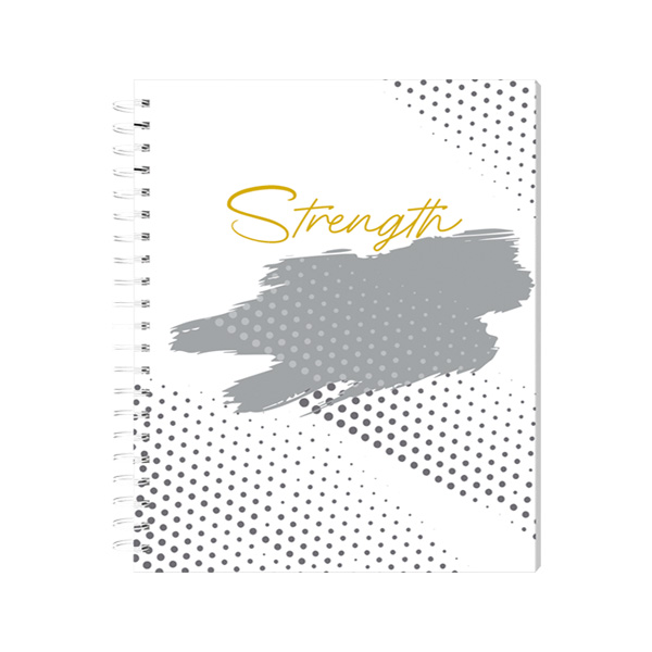 Image of Sterling Silver Lines Spiral Notebook 8x10.5 - Optimism