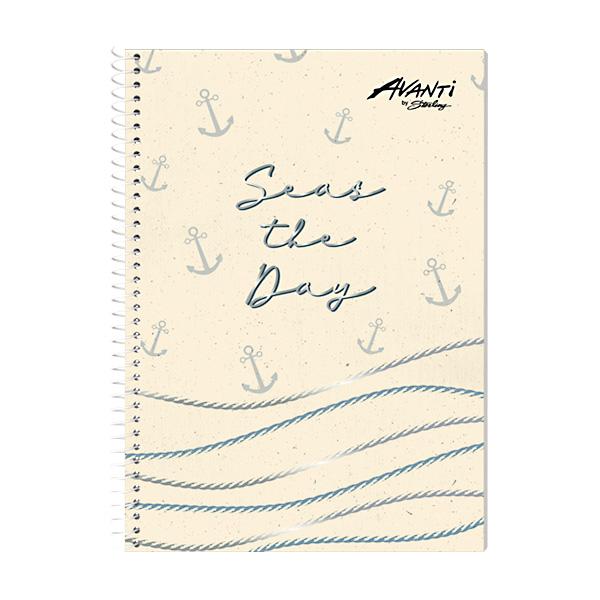 Image of Avanti Aquatic Lines Premium Spiral Notebook Set of 8