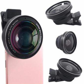 0.6X MobilePhone Camera Lens 37mm 0.6X 58 UV Super Wide Angle +Macro Lens (Black)