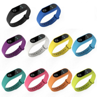10 pcs Silicone Replacement Watchband Watch Band Strap for Xiaomi Mi Band 2 Smart Bracelet - intl