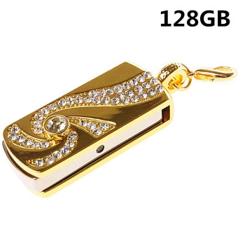 128GB Metal Diamond USB Flash Memory Drive Stick U Disk - intl