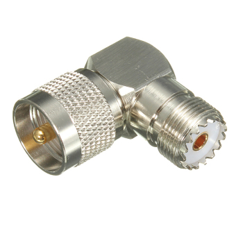 1pc 90? UHF Male Plug PL259 to SO239 female jack connector Adapter Right Angle - intl