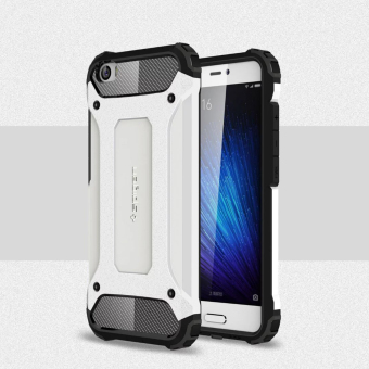 2 in 1 Shockproof Phone Back Case Cover for Xiaomi Mi 5 (White) (Intl)