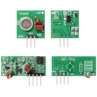 2 Pieces RF Wireless Transmitter and Receiver Link Kit Module433Mhz - intl