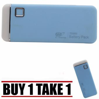 20000mah Universal Smooth Touch USB Power Bank with FlashLight (Light Blue) Buy 1 Take 1