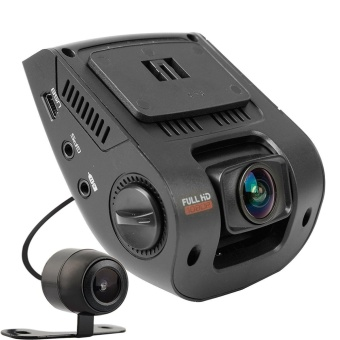 2.4 LCD FHD 1080p 170 Degree Wide Angle Dual Dashboard CameraRecorder Car Dash Cam with Rear Camera, G-Sensor, WDR, LoopRecording - intl