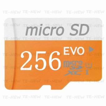 256GB Class 10 Micro memory SD Card with Adaptor (Orange) - intl