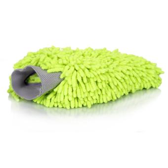 Eduton Ultrafine Fiber Mitt Microfiber Household Car Wash Washing Car Cleaning Dry Glove Anti Scratch for Car Cleaning Color Random Random