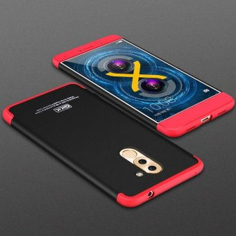 3 In 1 Combo 360 Degree Full Body Shockproof Protective Phone Case Frosted Armor Hard PC Back Cover for Huawei Honor 6X / GR5 (2017)- intl