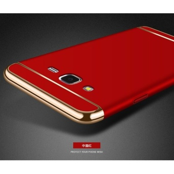 3 In 1 Fashion Ultra Thin Matte Hard Case for For Samsung Galaxy J32016(Red) - intl