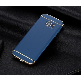 3 In 1 Fashion Ultra Thin Matte Hard Case for For Samsung Galaxy S6 Edge(Blue ) - intl
