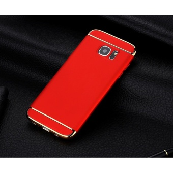 3 In 1 Fashion Ultra Thin Matte Hard Case for For Samsung GalaxyS6(Red) - intl