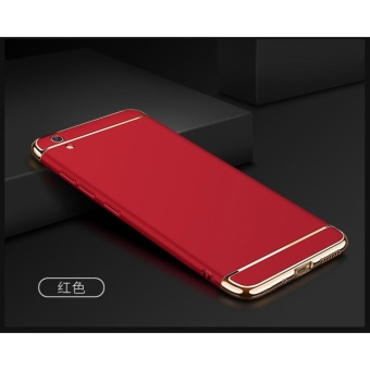 3 In 1 Fashion Ultra Thin Matte Hard Case for For VIVO Y51(Red) - intl