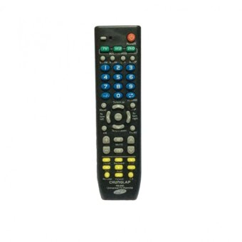 3-in-1 TV, VCD, DVD Universal Remote Control (Black)