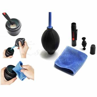 3 in1 Camera Lens Cleaner Clearing kit set Cloth Air Blower brush