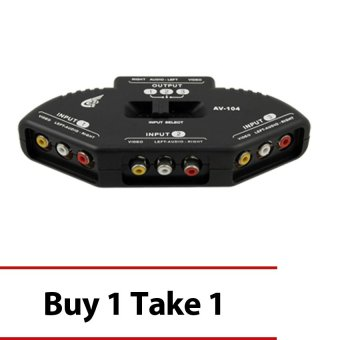 3-Port AV RCA Audio Video Switcher Buy 1 Take 1