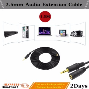 3.5mm Audio Extension Cable Male to Female Aux Cable 1.5M Headphone Extension Cable for