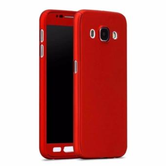 360 Case With Tempered Glass For Samsung Galaxy J2 prime (Red)