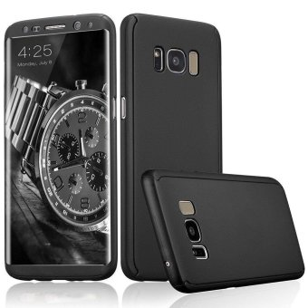 360 Degree All-around Full Body Slim Fit Lightweight Hard Protective Skin Case Cover for Samsung Galaxy S8 (Black) - intl