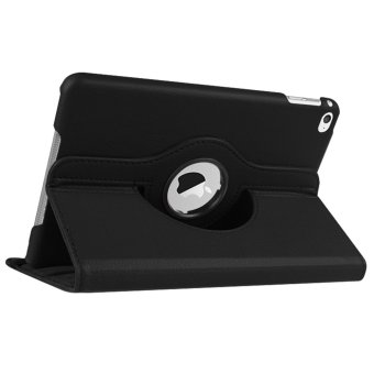 360-degree Rotation PU Leather Case for Apple iPad 2/3/4 (Black)