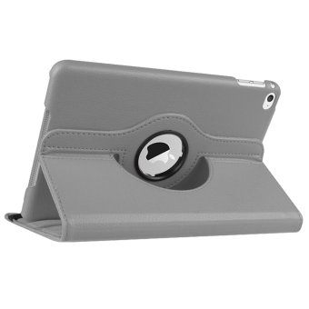 360-degree Rotation PU Leather Case for Apple iPad 2/3/4 (Grey)
