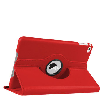360 Degree Rotation PU Leather Case for Apple iPad mini 4 (Red)