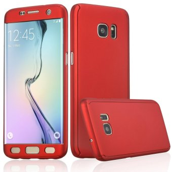 360 Full Body Coverage Protection Hard Slim Ultra-thin Hybrid Case Cover for Samsung Galaxy S6 Edge (Red) - intl