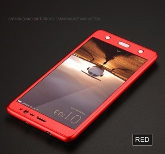 360 Full protection Case for Xiaomi Redmi Note 4 (Red)