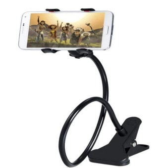 360 Rotating Flexible LazyPod Universal Mobile Phone Holder (Black)