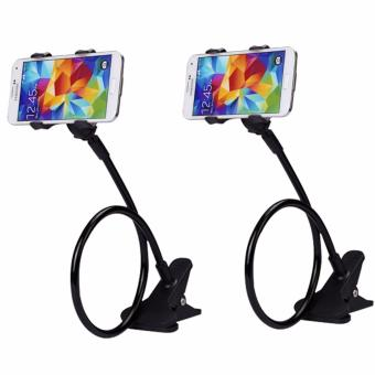 360 Rotating Flexible LazyPod Universal Mobile Phone Holder (Black)Set of 2