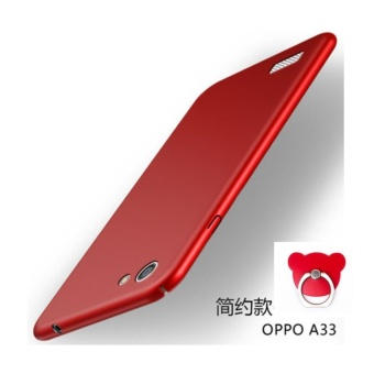 360 ultra-thin matte PC hard Cover Case For OPPO A33(NEO 7(Red+Bearring) - intl